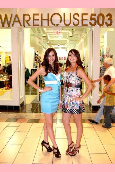 blue warehouse503 dress - pink warehouse503 dress - brown warehouse503 belt - bl