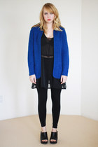 blue slouchy knit vintage sweater