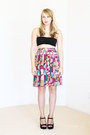 Black-platforms-shoes-black-bandeau-american-apparel-top-vintage-skirt