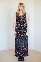 maxi floral vintage dress