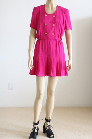 hot pink vintage dress