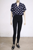 Navy-slouchy-sheer-vintage-blouse