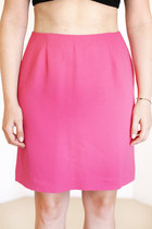 bubble gum fitted lined vintage skirt
