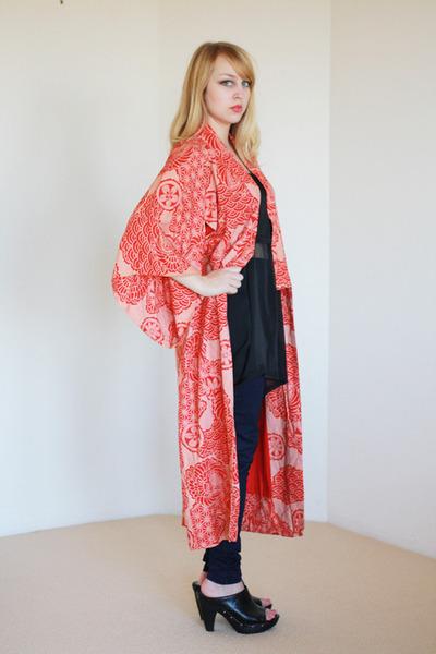 kimono printed vintage jacket