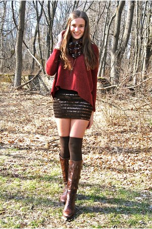 dark brown Wholesale-Dress skirt - dark brown Vince Camuto boots
