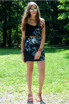 black Urban Outfitters dress - bronze MYHOTSHOES shoes - bronze Phrenzy belt