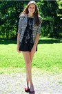 Navy-snoozer-loser-dress-white-tjmaxx-blazer-ruby-red-target-flats