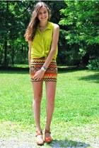 carrot orange Kharisma Boutique skirt - orange Marshalls shoes