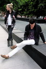 White-gap-jeans-gray-banana-republic-jeans-black-banana-republic-jacket