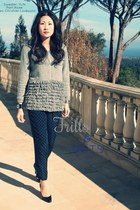 YLIN sweater - Alcee pants - Christian Louboutin pumps