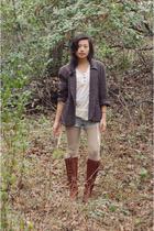 vintage blazer - Frye boots