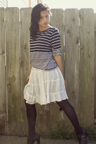 Charter Club shirt - vintage dress - Report shoes