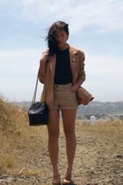 Jones New York shorts - Riekers shoes - vintage blazer