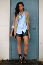 Nordstrom Rack coat - Forever 21 shorts - GoJane shoes