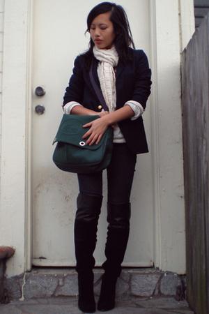 SE Boutique boots - Ralph Lauren blazer - Charlotte Russe top
