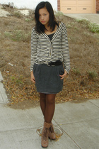 top - H&M skirt - cutesygirlcom shoes - Anne Klein tights
