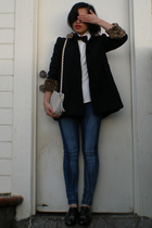 Kids Thrifted coat - YMI jeans - emanuel ungaro blouse