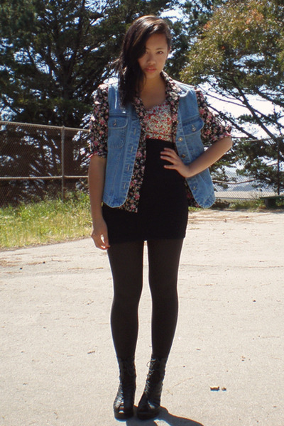 thrifted blouse - thrifted vest - GoJane shoes