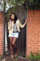 Forever 21 jacket - vintage boots - Halston blouse