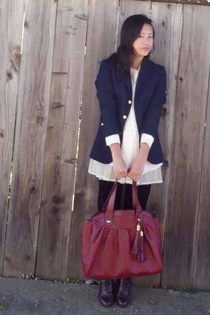 Ralph Lauren blazer - modcloth purse - Coasters boots