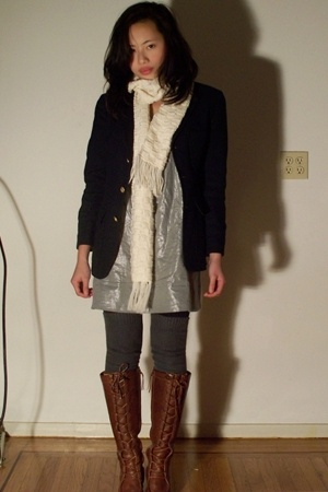 Urban Outfitters dress - Ralph Lauren blazer - Frye boots - Via Spiaga socks