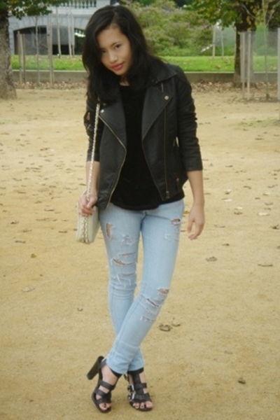 Urban Outfitters jacket - DIY jeans - Gap t-shirt - Nine West shoes - thrifted p