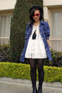Denim-co-jacket-thrifted-boots-cutesygirl-skirt