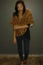 vintage jacket - Marshalls top - Ninas jeans - Nine West shoes