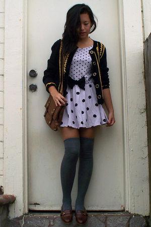 vintage jacket - Primark dress - Primark bag - etienne aigner shoes