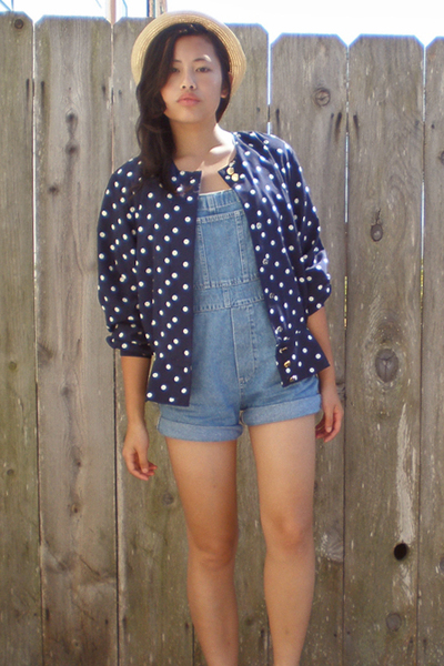 Gap jeans - thrifted blouse - forever 21 hat