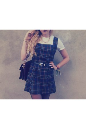 vintage shoes - vintage dress - Primark socks - pull&bear belt - Zara t-shirt