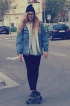 H&M hat - Levis jacket - vintage sweater - H&M pants - Coolway sneakers