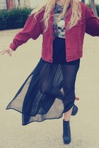 Jeffrey Campbell boots - Levis jacket - Urban Outfitters t-shirt - Primark skirt