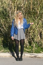 vintage jacket - creepers shoes - H&M skirt - Present of Bali t-shirt