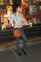 vintage purse - Uniqlo shirt - Urban Outfitters boots