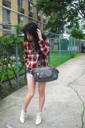 vintage shirt - Nine West purse - Kors by Michael Kors boots