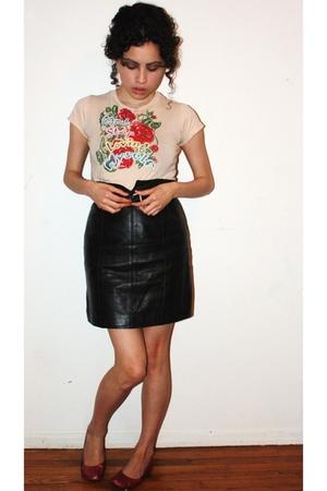 vintage skirt - vintage shirt