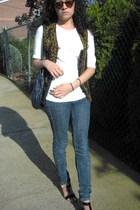 vintage vest - Target shirt