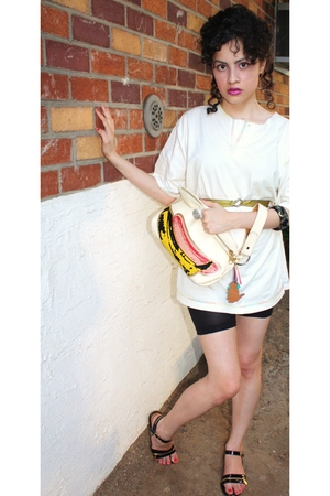 vintage shirt - H&M shoes - vintage purse