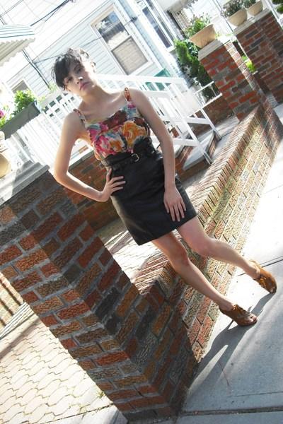 vintage skirt - Steve Madden shoes