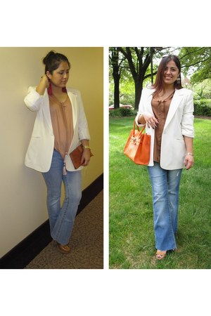 asos blazer - Ebay bag - H&M blouse - Aldo sandals