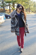 Zara necklace - J Crew sweater - Target sunglasses - Urban Outfitters pants