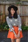 Pendleton-hat-f21-sweater-madewell-shirt-asos-bracelet-asos-skirt