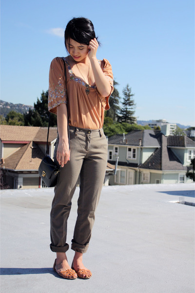BCBG pants - Language top - ecote shoes - vintage