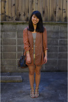 DIY shorts - thrifted blazer - vintage D&B purse - asos wedges