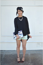 H&M shorts - lacepipe top
