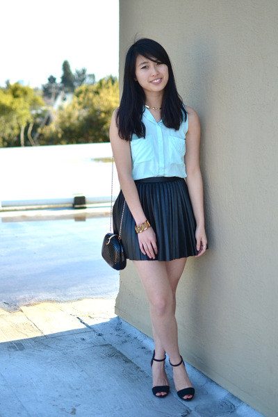 H&M top - H&M skirt - Zara heels