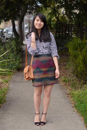 thrifted skirt - Shanghai top