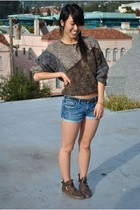 Zara shoes - moms sweater - f21 shorts - f21 belt