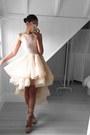 Beige-white-runway-dress